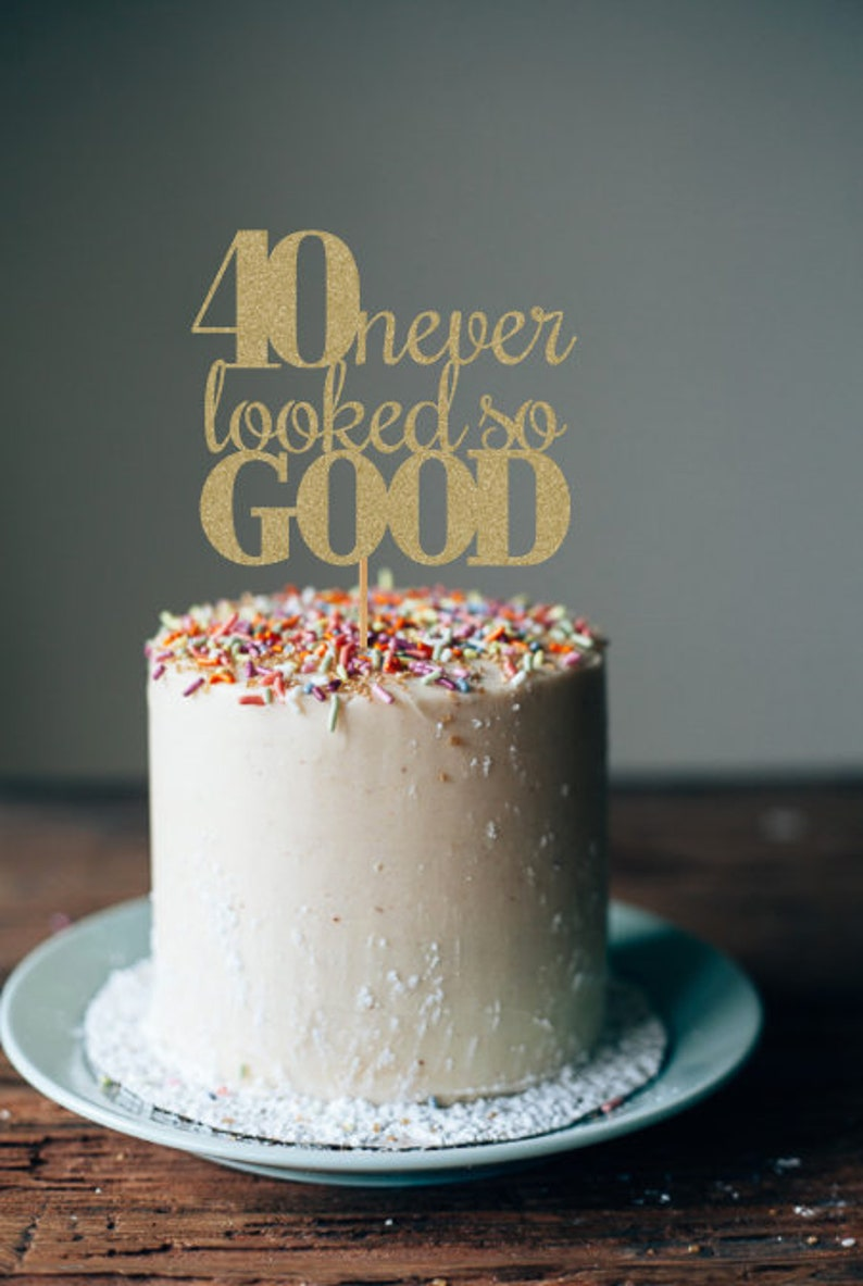 40th Birthday Cake Topper Decorations