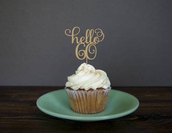 Kuchen Topper Geburtstag Sechzig Kuchendeckel 60 Geburtstag Etsy