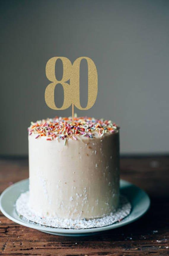 80th Cake Topper Birthday