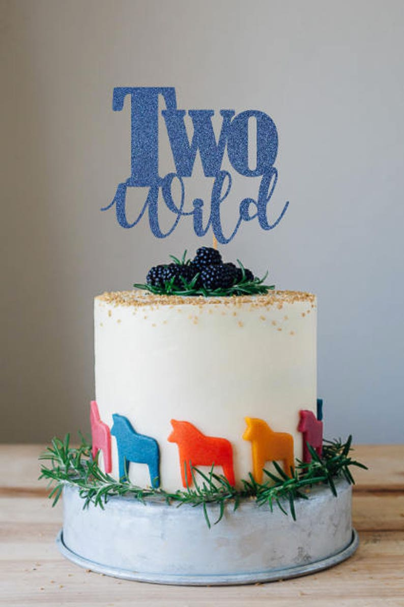 Two Wild Cake Topper 2nd Birthday Decorations