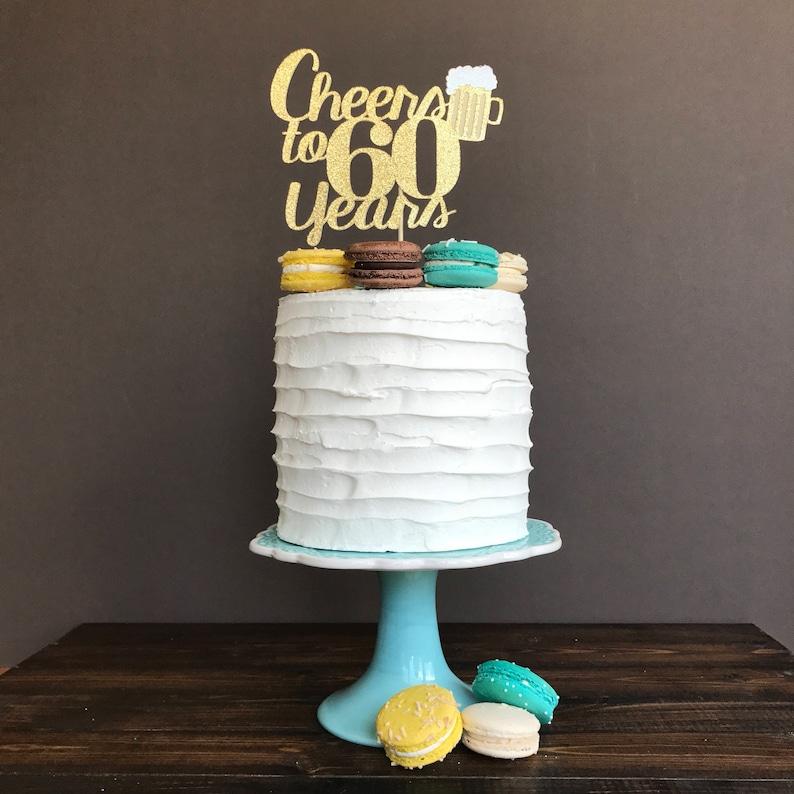 Bravo à De Gâteau De 60 Ans 60e De Gâteau Danniversaire Etsy