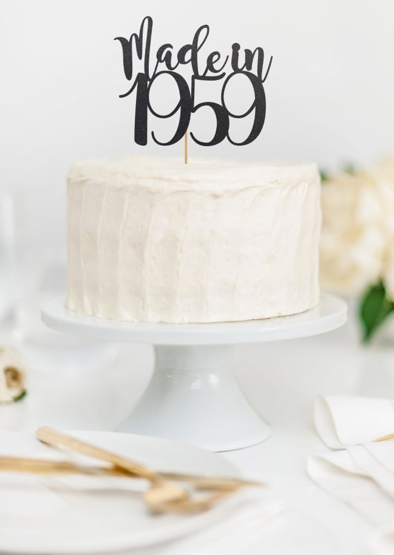60th Birthday Cake Topper Decorations Vintage