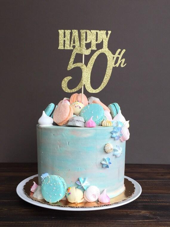 Awe Inspiring Cake Topper Fifty Cake Topper 50Th Birthday Cake Topper Etsy Personalised Birthday Cards Akebfashionlily Jamesorg