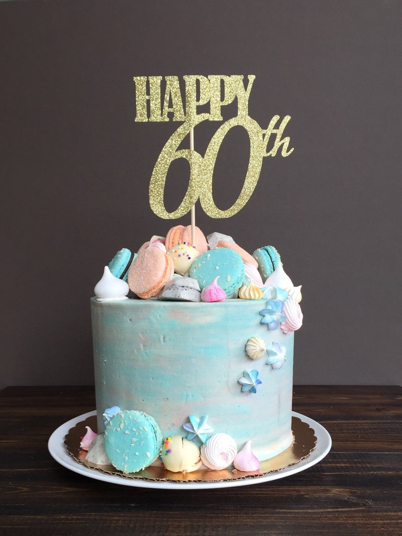 Cake Topper Sixty 60th Birthday