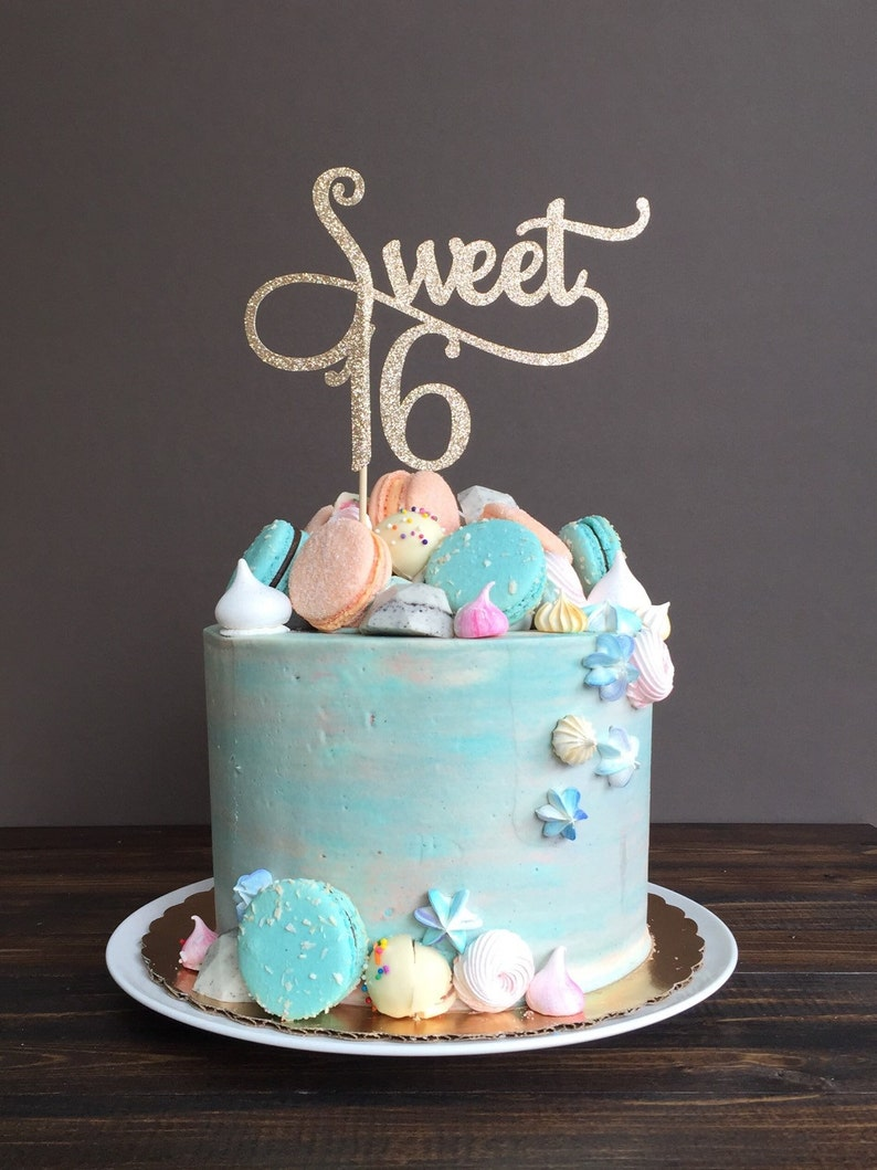 Sweet 16 Cake Topper Birthday Decorations