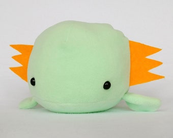 Axolotl cute kawaii plushie (green)