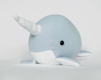 Narwhal cute kawaii plushie (blue)