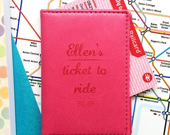 281bc1fcb Ticket To Ride personalised travel card holder
