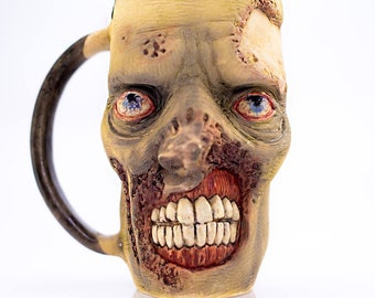 Zombie mug, The Walking Dead, horror, coffee mug, Gift For Her, Gift For Him, twd, Handcrafted Ceramic, unique gift idea, anniversary gift
