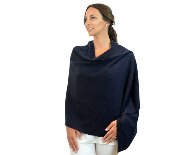 2408e3225 Navy blue 100% cashmere travel wrap shawl scarf in gift box   Etsy