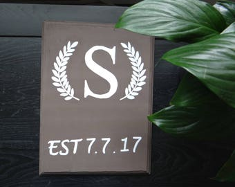 Wood Sign | Monogram | Wedding| Home Decor | Special Date | Perfect Gift | Personal | Date | Letter | house warming | baby date