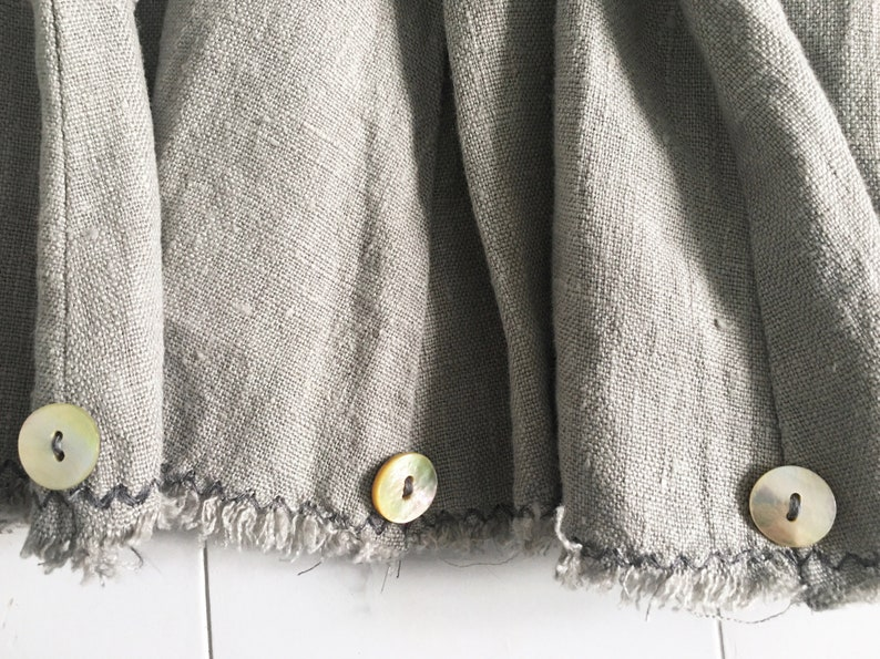 Skirt Shape Godet Pure Linen Grey image 0
