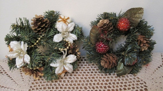 Christmas Candle Rings.Christmas Candle Wreaths Xmas Candle Ring Decor