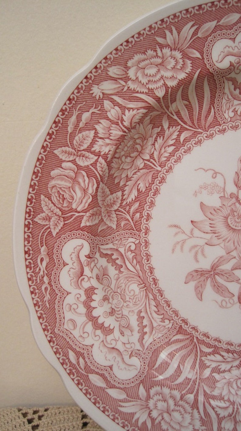 Decorative Plate Dinner Plate Pink Flowered Plate