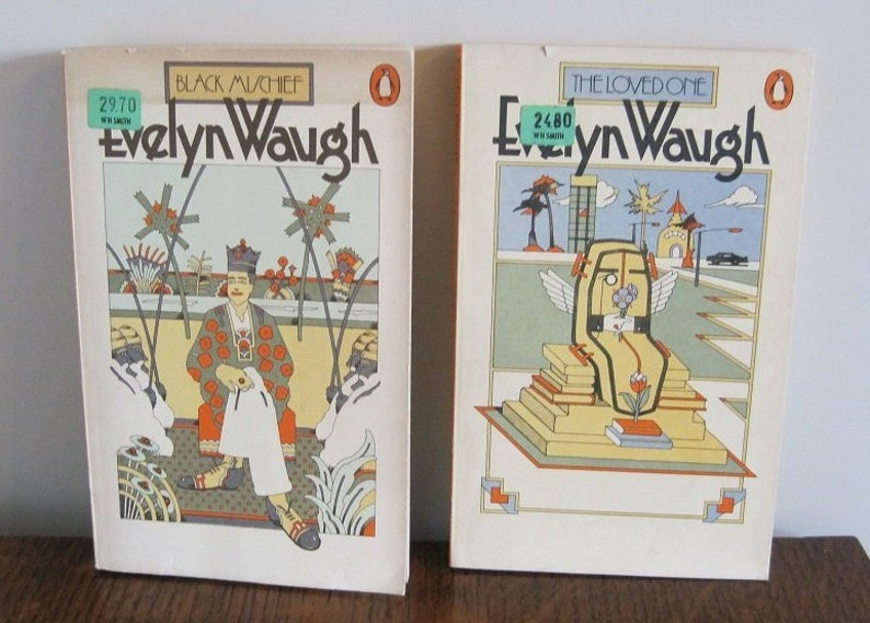 Books, Evelyn Waugh books, 2 Adult Books
