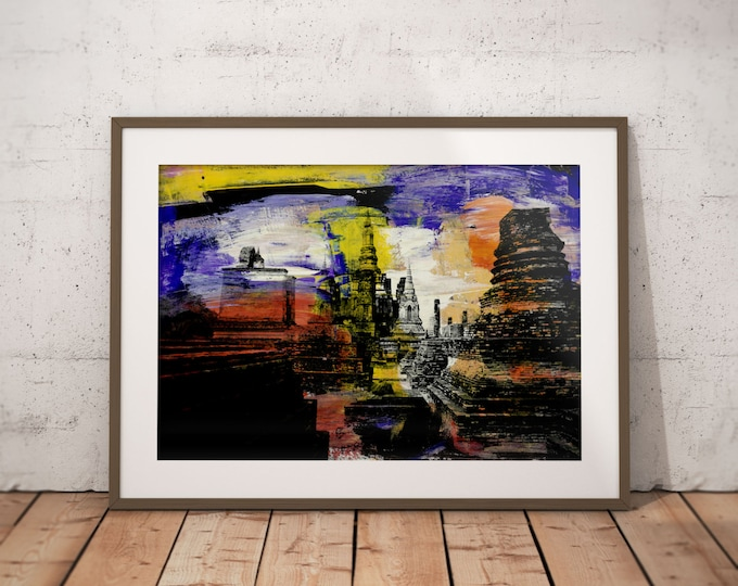 Ancient Asia XII by Sven Pfrommer - Artwork is ready to hang with a solid wooden frame