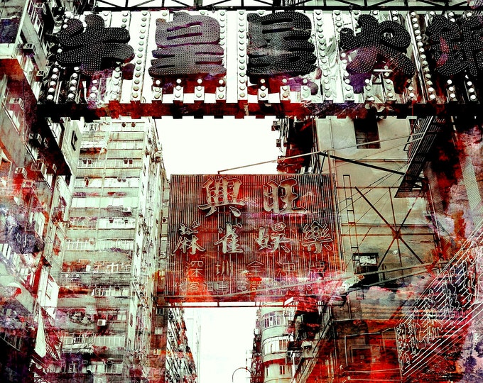 HONG KONG Downtown VII by Sven Pfrommer - Artwork is ready to hang