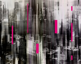 CHICAGO FRAGMENT I by Sven Pfrommer - Artwork is ready to hang
