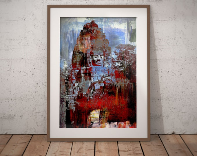 Ancient Asia XX by Sven Pfrommer - Artwork is ready to hang with a solid wooden frame