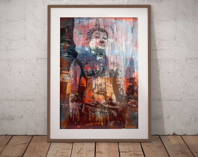 Ancient Asia VIII by Sven Pfrommer - Artwork is eady to hang with a solid wooden frame