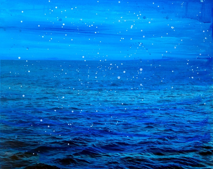 Sea II - Mixed Media Painting by Sven Pfrommer