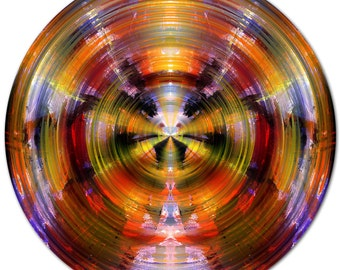 COLOR SPHERE II (Ø 100 cm) by Sven Pfrommer - Round artwork is ready to hang