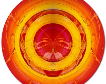 COLOR SPHERE III (Ø 100 cm) by Sven Pfrommer - Round artwork is ready to hang