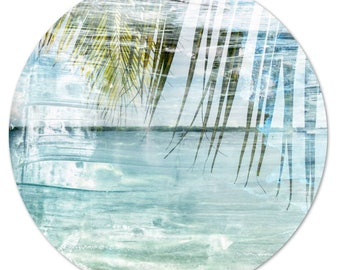 LA MER – Circular VII (Ø 100 cm) by Sven Pfrommer - Round artwork is ready to hang