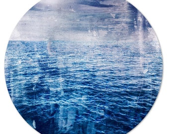 LA MER – Circular IV (Ø 100 cm) by Sven Pfrommer - Round artwork is ready to hang