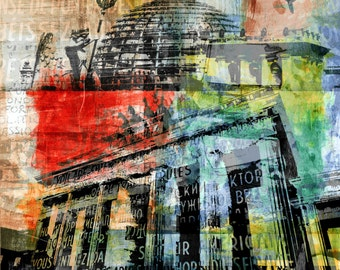 BERLIN EDGE I by Sven Pfrommer - Artwork on canvas is ready to hang