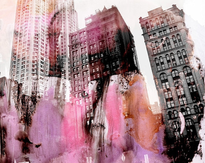 NEW YORK COLOR I by Sven Pfrommer - 100x100cm Artwork is ready to hang
