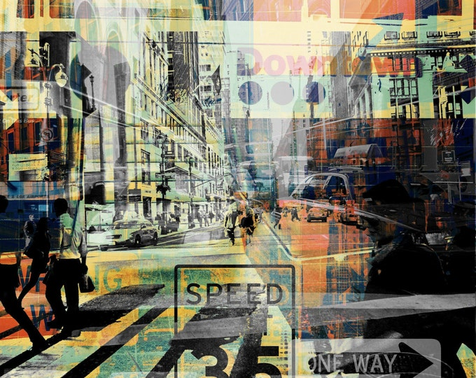 NEWYORK STYLE IV by Sven Pfrommer - 120x80cm Artwork is ready to hang