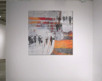 HUMAN CROWD XII - by Sven Pfrommer - Artwork on Canvas is ready to hang