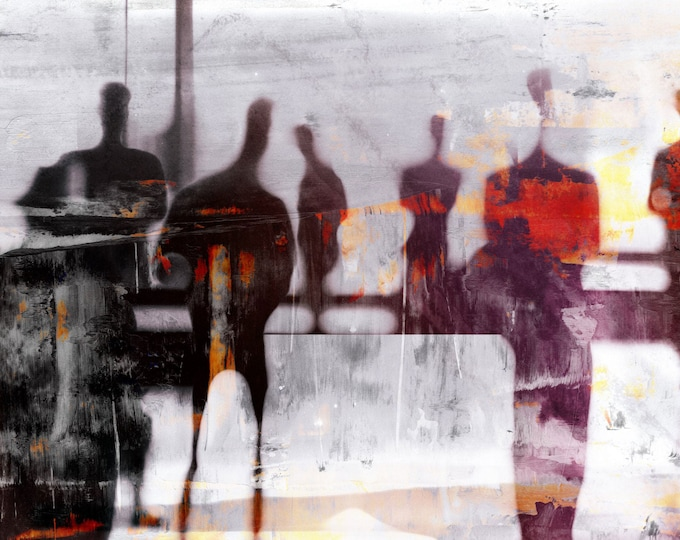 BURMA BLUR LXXXVI - Mixed Media Art by Sven Pfrommer - Artwork is ready to hang