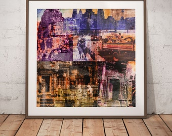 Cambodia Mixed Media XIII by Sven Pfrommer - Artwork is ready to hang with a solid wooden frame
