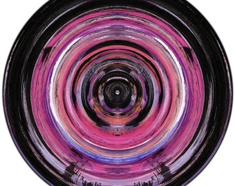 COLOR SPHERE I (Ø 100 cm) by Sven Pfrommer - Round artwork is ready to hang
