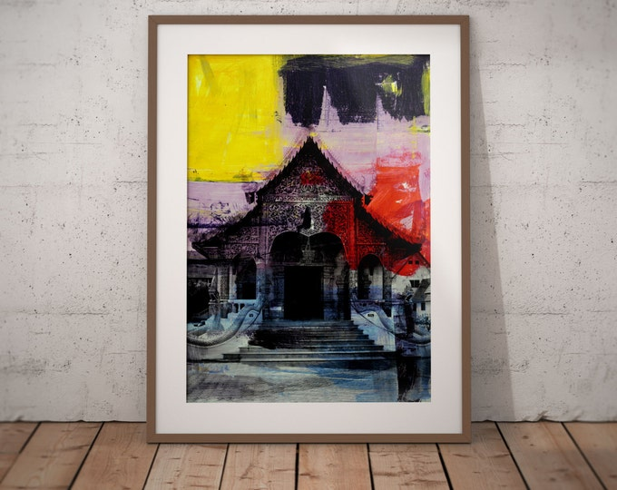 Ancient Asia XXIV by Sven Pfrommer - Artwork is ready to hang with a solid wooden frame
