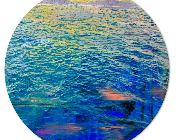 LA MER – Circular XI (Ø 100 cm) by Sven Pfrommer - Round artwork is ready to hang