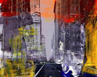 NEWYORK COLOR XVI by Sven Pfrommer - 130x100cm Artwork is ready to hang.