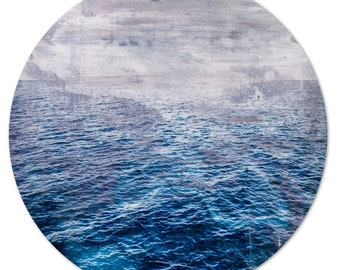 LA MER – Circular II (Ø 100 cm) by Sven Pfrommer - Round artwork is ready to hang