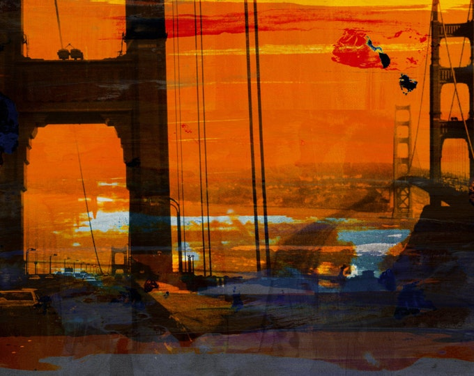 CALIFORNIA VIII by Sven Pfrommer - 140x70cm Artwork is ready to hang.