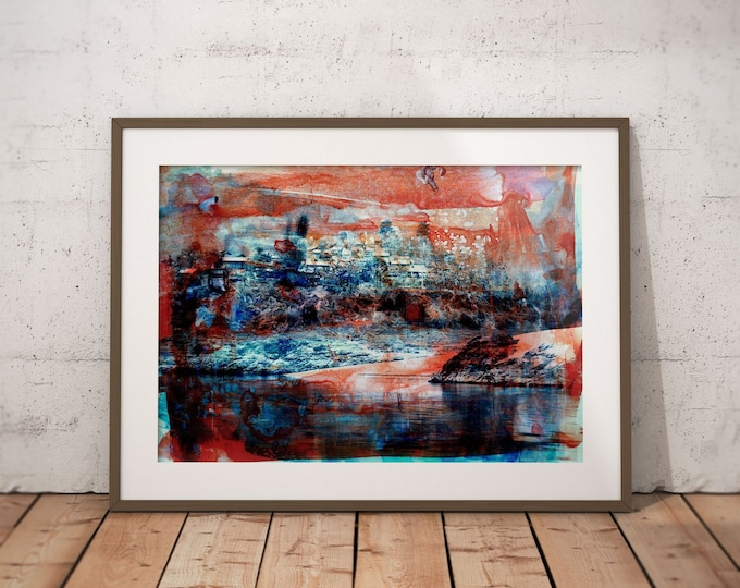 Waterworld XIX by Sven Pfrommer - Artwork is ready to hang with a solid wooden frame