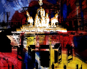BERLIN ART XIII by Sven Pfrommer - Artwork on canvas is ready to hang