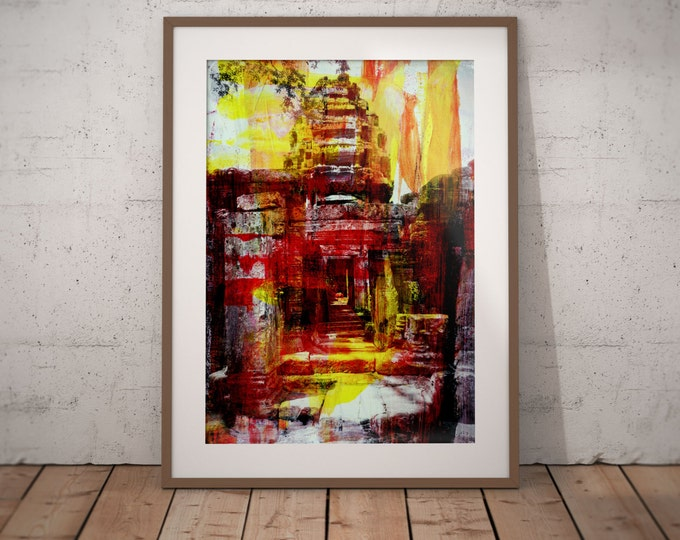 Ancient Asia XXVI by Sven Pfrommer - Artwork is ready to hang with a solid wooden frame
