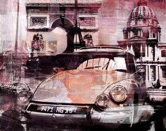PARIS XXV by Sven Pfrommer - 100x100cm Artwork on Canvas is ready to hang