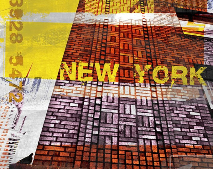 NEWYORK SKYLINER III by Sven Pfrommer - 140x70cm Artwork is ready to hang.