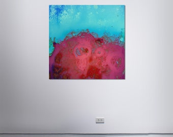 Abstract Scanography X - by Sven Pfrommer - Artwork is framed and ready to hang