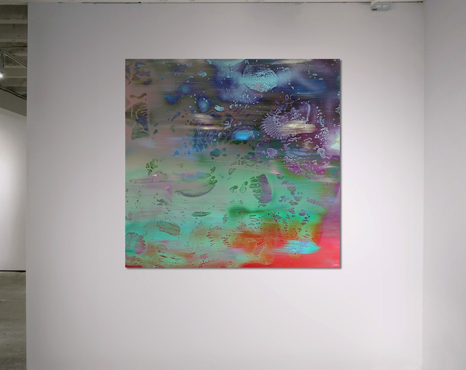 Abstract Scanography XXI - by Sven Pfrommer - Artwork is framed and ready to hang