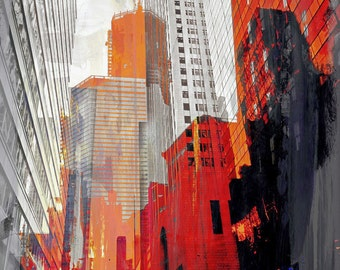 NY DOWNTOWN XIV by Sven Pfrommer - 120x90cm Artwork is ready to hang: