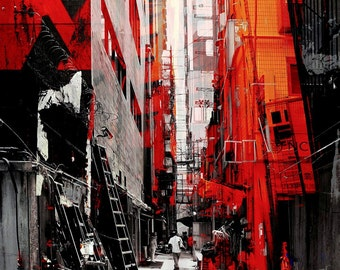 HONG KONG Downtown X by Sven Pfrommer - Artwork is ready to hang